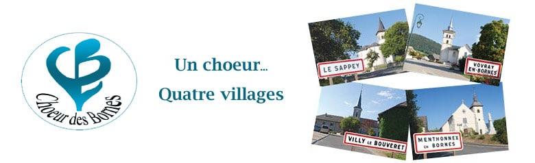 Choeur des Bornes. Un chœur ... Quatre villages.