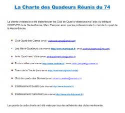 Charte des Quadeurs Réunis du 74 (1ère page)