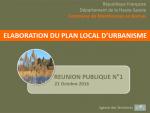 Elaboration du PLU - Réunion publique n° 1 (format PDF, 4 Mo)