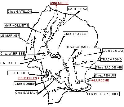 Hameaux de la commune de Menthonnex-en-Bornes