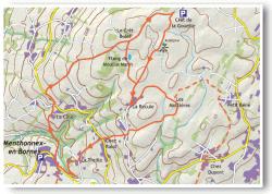 Itinéraire du circuit du Plateau des Bornes.