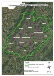 Périmètre du projet de territoire du plateau Bornes.