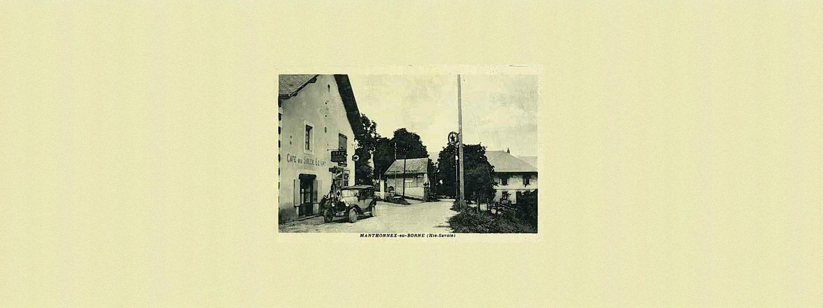 Ancienne carte postale de Menthonnex-en-Bornes