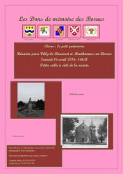 Affiche des Dons de Mémoire des Bornes sur le thème du Petit patrimoine