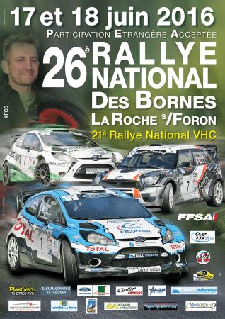 Affiche du 26ème rallye des Bornes