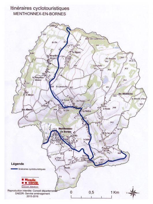 Itinéraires cyclotouristiques