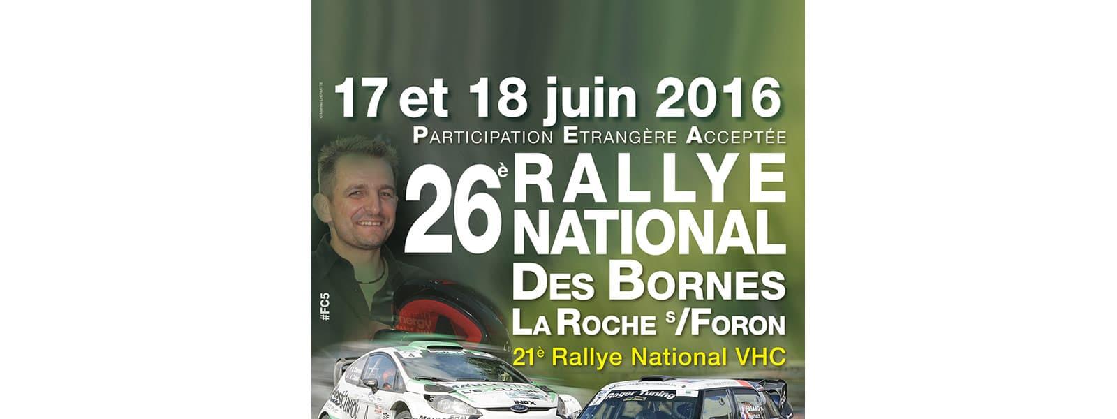 Rallye des Bornes les 17 et 18 juin 2016