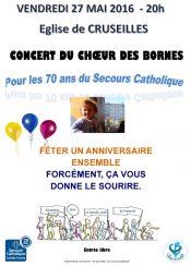 Affiche du Concert du Choeur des Bornes le 27 mai 2016 à Cruseilles