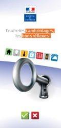 Couverture de la brochure de conseils pour éviter les cambriolages
