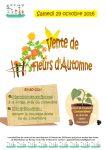 Affiche de la vente de fleurs d'automne 2016 de l'APEMV