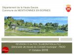 Révision n°2 du POS / Elaboration du PLU, Séminaire de travail du Conseil municipal - PADD, octobre 2016 (format PDF, 3,36 Mo)