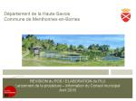 Révision du POS / Elaboration du PLU -Lancement de la procédure – information du Conseil municipal, mai 2016 (format PDF, 2,15 Mo).