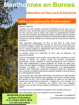 Lettre exceptionnelle d'information concernant l'élaboration du Plan Local d'Urbanisme (format PDF, 2,51 Mo).