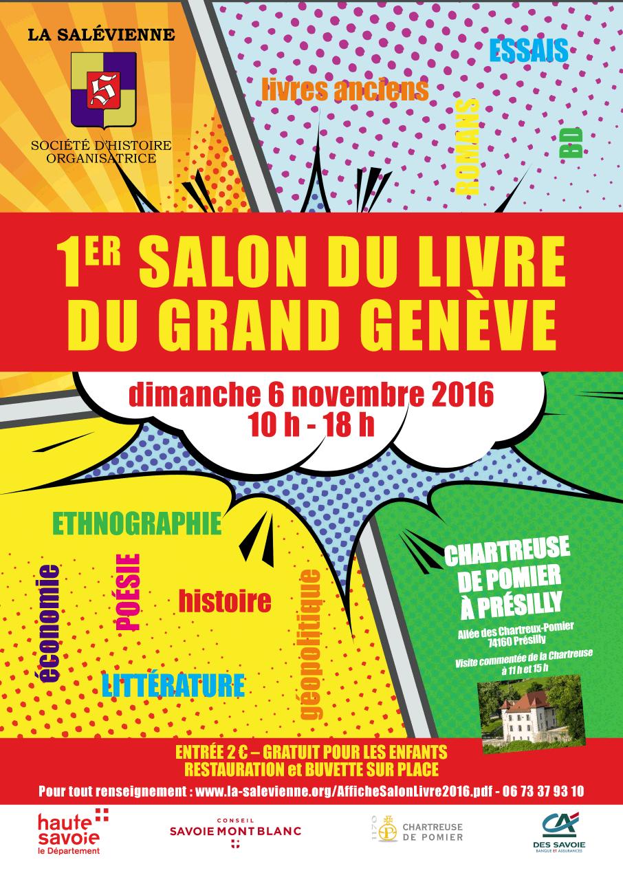 1er salon du livre grand gen ve menthonnex en bornes for Salon du livre exposants