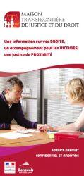 Plaquette d'information de la Maison transfrontière de justice et du droit, couverture