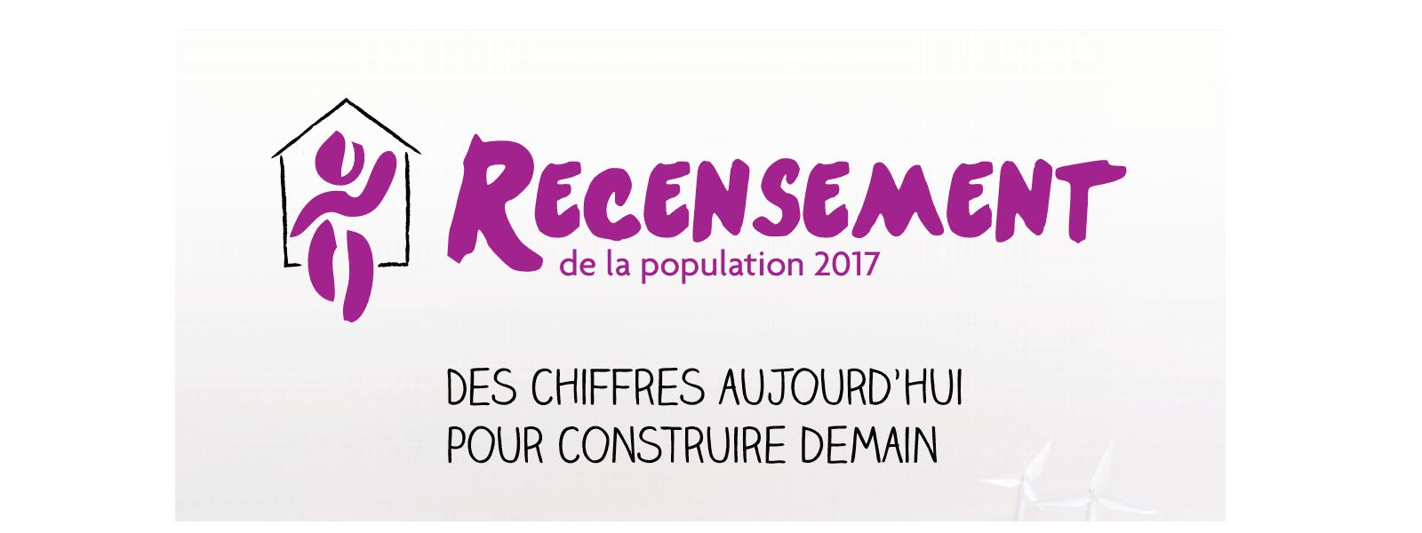 Recensement de la popultation du 19 janvier au 18 février 2017