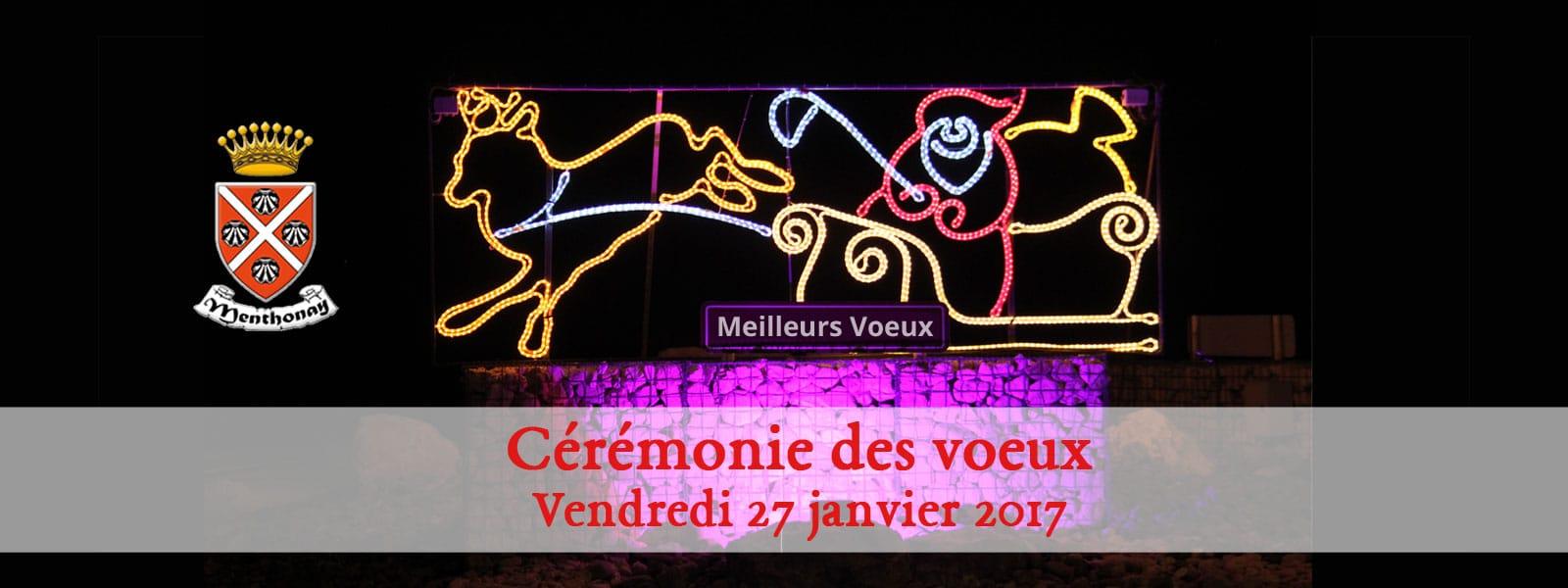 Invitation à la cérémonie des vœux le 27 janvier 2017 à 19h30