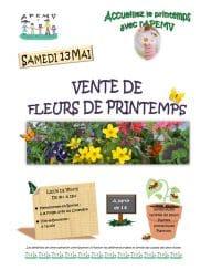 Affiche de la vente de fleurs de printemps 2017 de l'APEMV