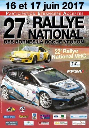 Affiche du 27ème rallye des Bornes/La Roche sur Foron