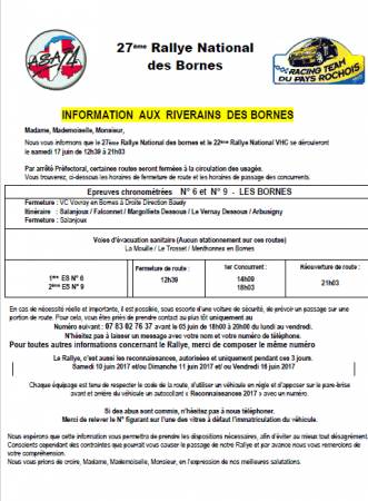 Informations aux riverains concernant le Rallye des Bornes 2017 (format PDF, 198 Ko)
