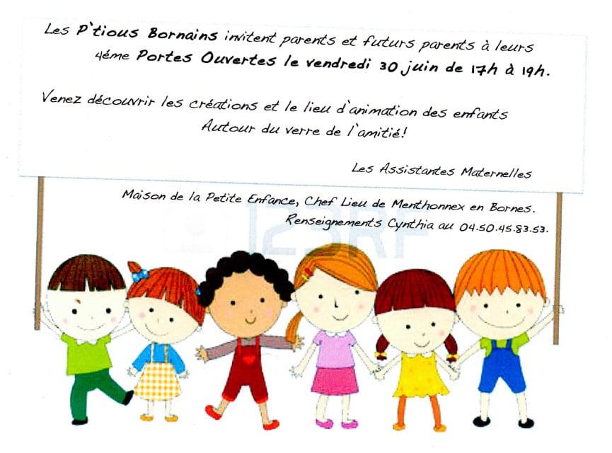Portes ouvertes des P'Tious Bornains le vendredi 30 juin 2017 de 17h à 19h