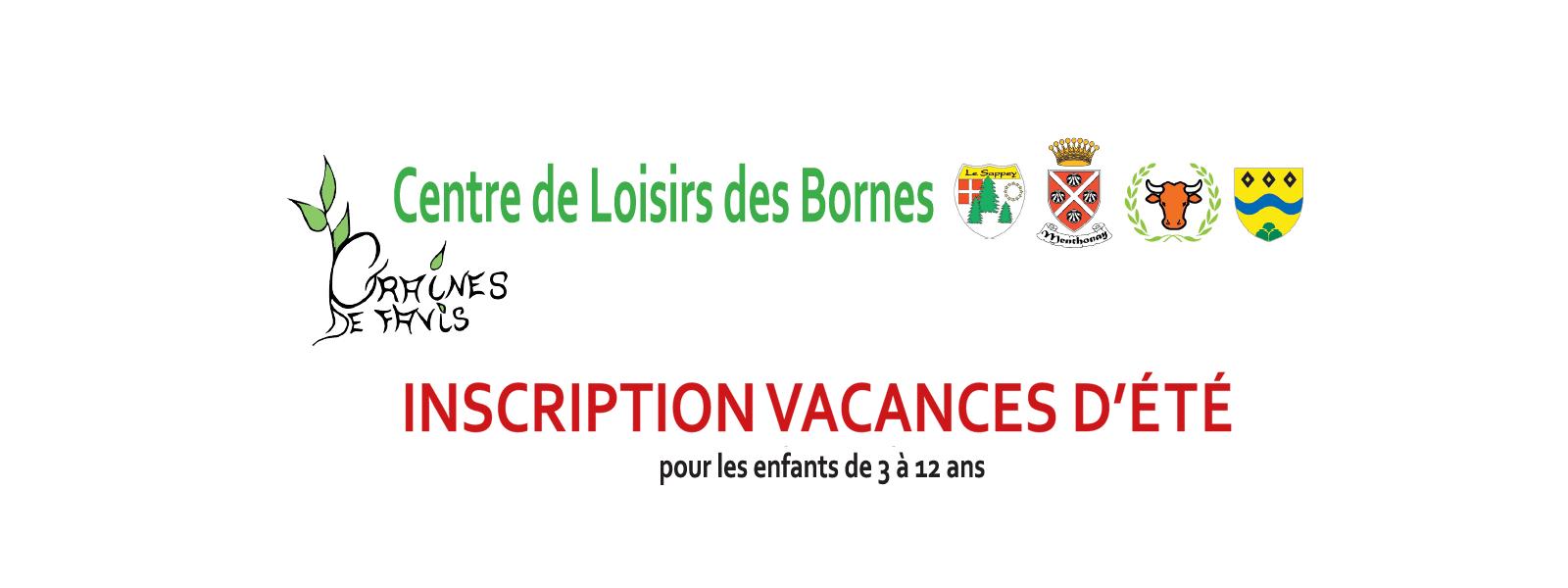 Centre de Loisirs des Bornes - Inscriptions vacances d'été 2017