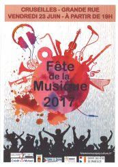 Fête de la musique à Cruseilles le 23 juin 2017