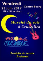 Marché du soir à Cruseilles le 23 juin 2017
