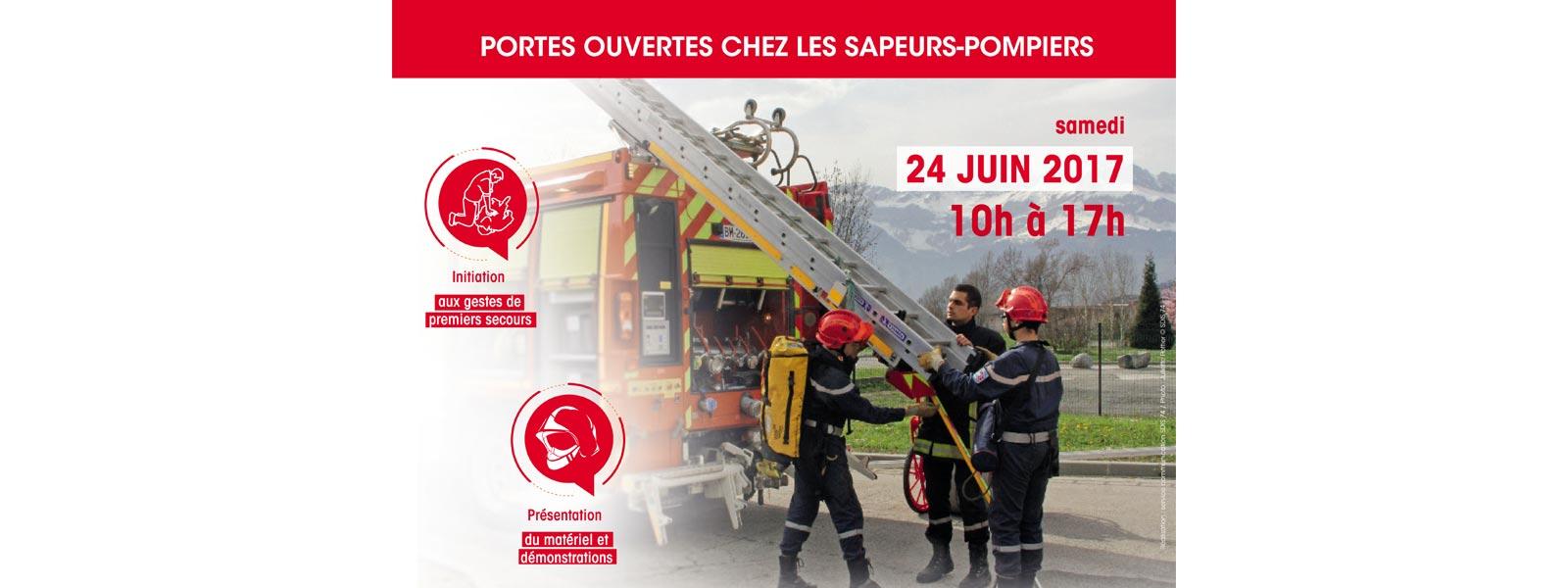 Portes ouvertes chez les sapeurs-pompiers de Cruseilles le 24 juin 2017