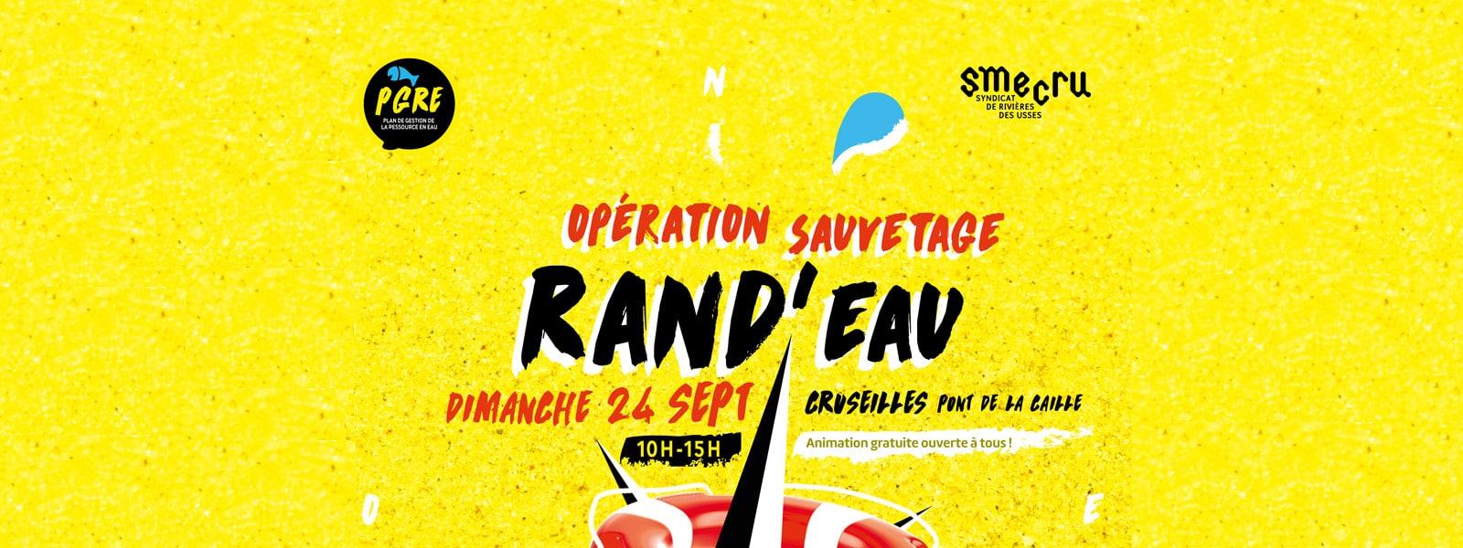 Rand'Eau, Opération sauvetage organisée par le SMECRU, le 24 septembre 2017.