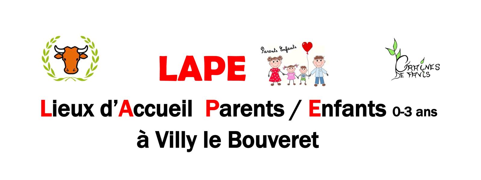 Lieu d'Accueil Parents/Enfants (0-3 ans) à Villy-le-Bouveret