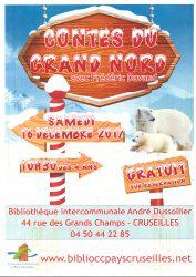Contes du Grand Nord à la Bibliothèque intercommunale le 16 décembre à 10h30