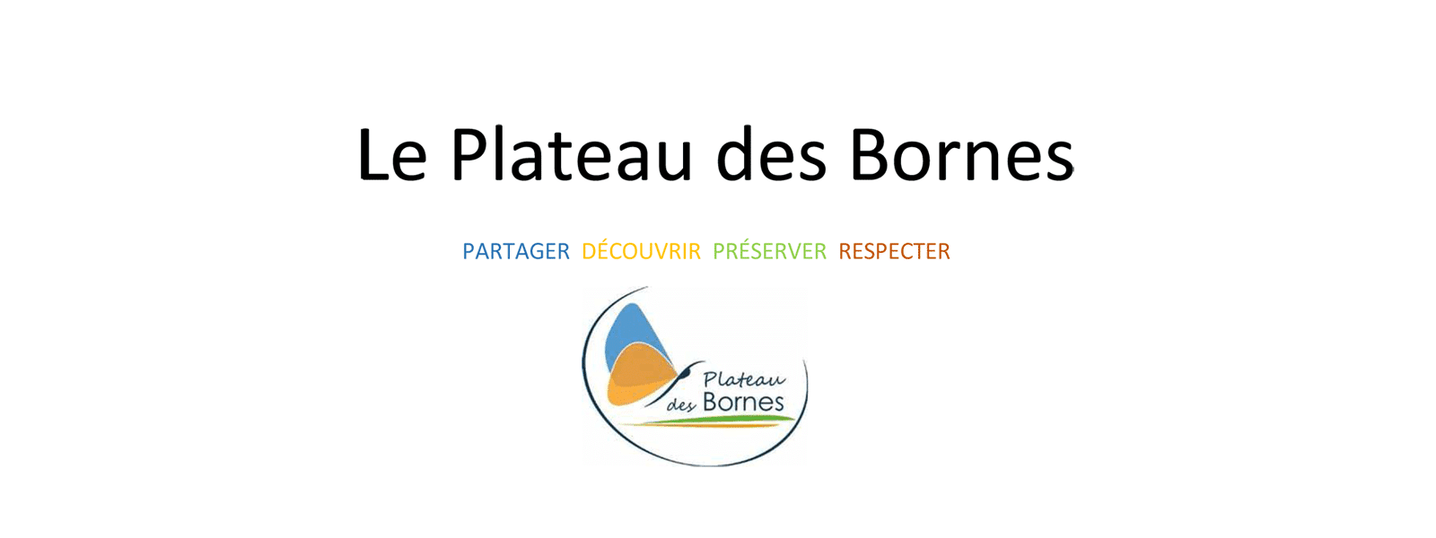 Logo du Plateau des Bornes