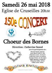 150e concert du Choeur des Bornes en l'église de Cruseilles le 26 mai 2018