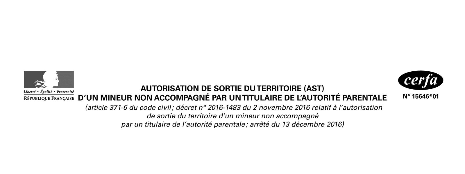 Autorisation de sortie du territoire (AST)
