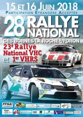 Affiche du 28ème rallye des Bornes/La Roche sur Foron