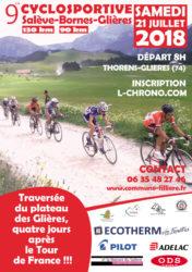 Affiche de la Cyclosportive Salève-Bornes-Glières 2018