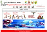 Programme des vacances de la Toussaint 2018 du Centre de Loisirs des Bornes