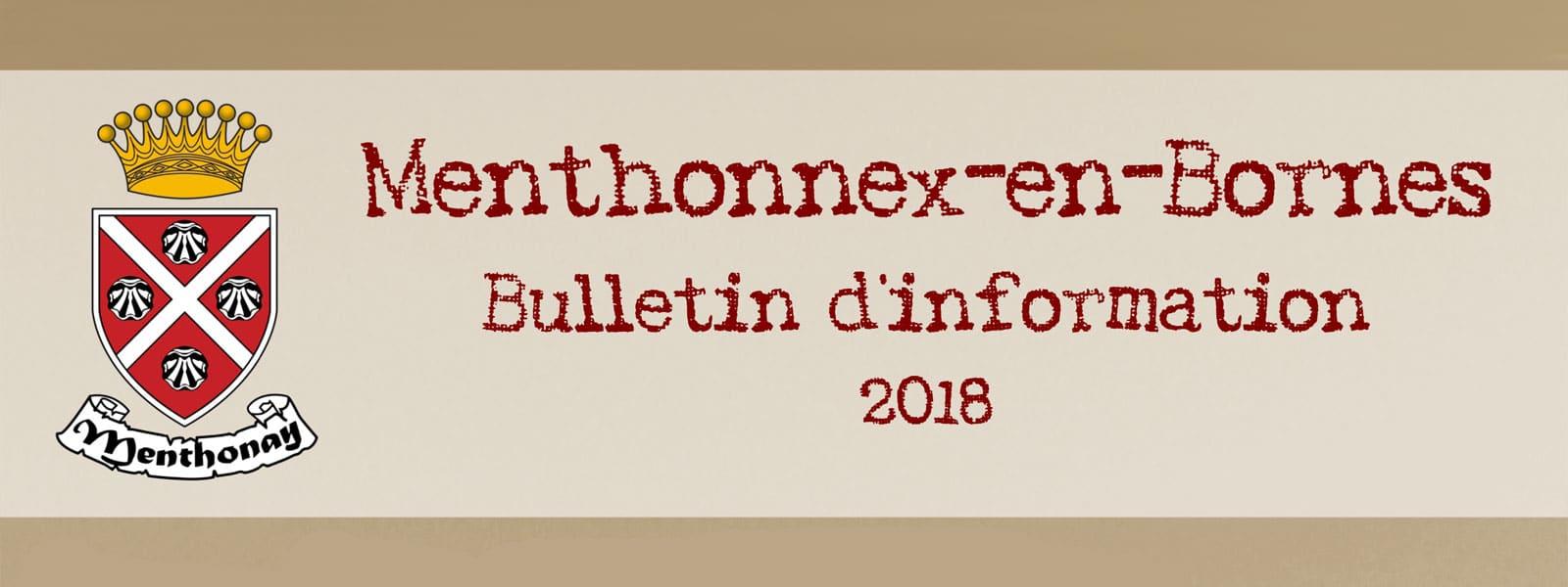 Bulletin 2018 bannière