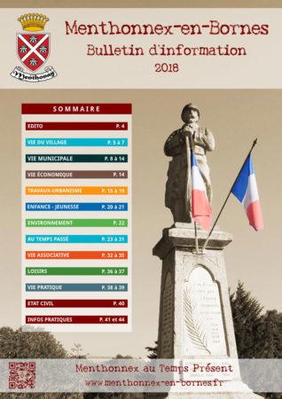 Couverture du bulletin d'info 2018