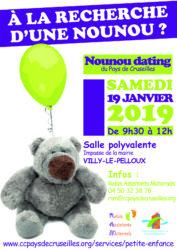 Affiche Nounou dating à Villy-le-Peloux le 19 janvier 2019