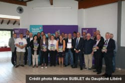 Signature du contrat départemental d'avenir et de solidarité le 24 mai 2019, Crédit Photo Maurice Sublet du Dauphiné Libéré
