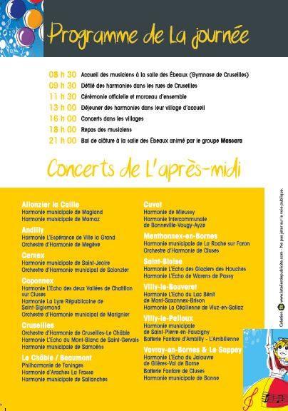 183ème Festival des Musiques du Faucigny : programme