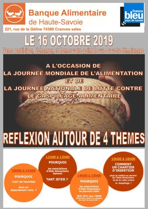Journée mondiale de l'alimentation et journée nationale de lutte contre le gaspillage le 16 octobre 2019