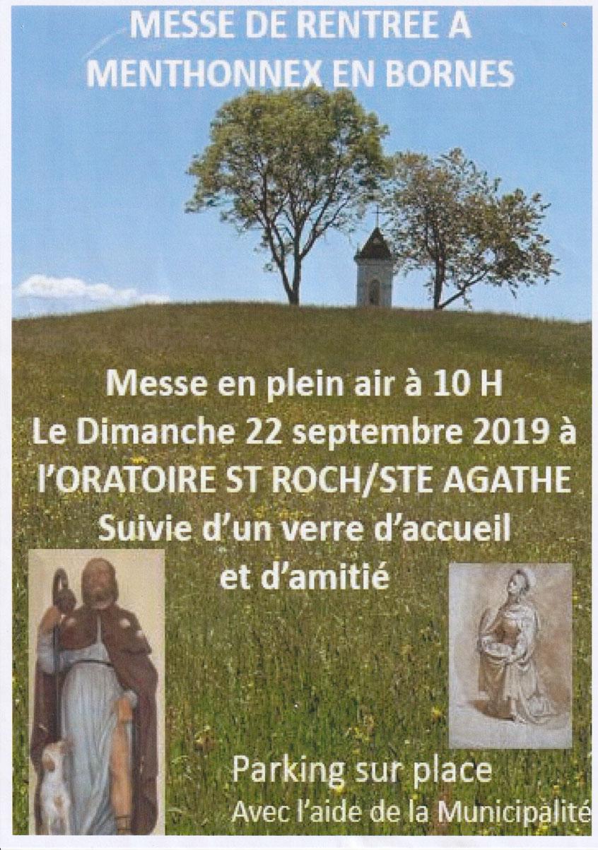 Messe de rentrée le 22 septembre 2019 à 10h à St-Roch