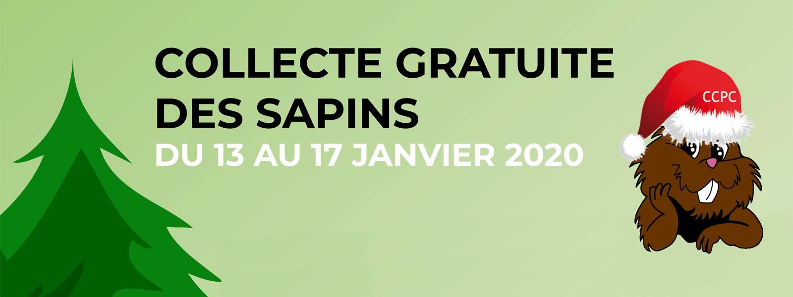 Collecte de sapins de noël du 13 au 17 janvier 2020