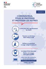 Coronavirus : gestes barrières