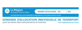 Allocation individuelle de transport 2019/2020