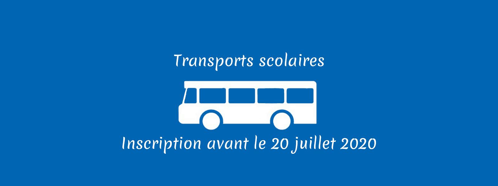 Inscription aux transports scolaires du 05 mai au 20 juillet 2020