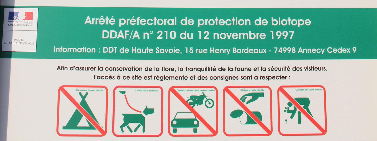Circulation des véhicules à moteur réglementée sur le Plateau des Bornes